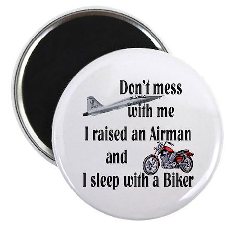 "Raised Airman Sleep Biker 2.25"" Magnet (100 pack)"
