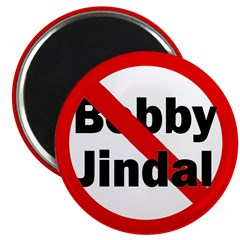 Red Slash Through Bobby Jindal Magnet