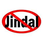 Anti-Jindal Oval Bumper Sticker