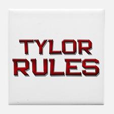 tylor rules Tile Coaster