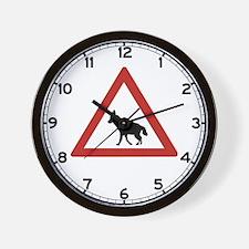 Caution Hyenas, Namibia Wall Clock
