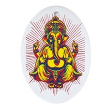 Power of Ganesh Oval Ornament