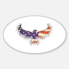 The Eagle Rises Oval Decal