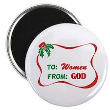 """God's Gift To Women 2.25"""" Magnet (10 pack)"""