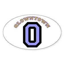 QlownTown team player Oval Decal