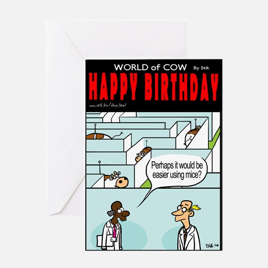 Maze Cows Greeting Card