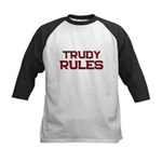 trudy rules Kids Baseball Jersey
