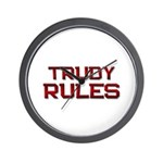 trudy rules Wall Clock