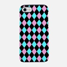 Aqua Pink and Black iPhone 7 Tough Case