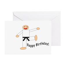 Black Belt Happy Birthday Cards 10PK