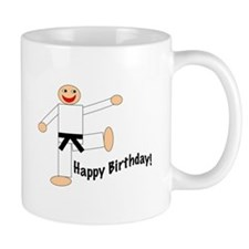 Black Belt Happy Birthday Mug