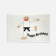 Black Belt Happy Birthday Rectangle Magnet