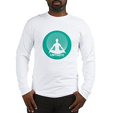 Namaste-Calm Aqua Long Sleeve T-Shirt