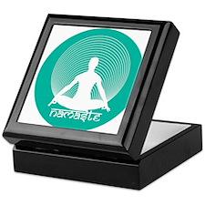 Namaste-Calm Aqua Keepsake Box