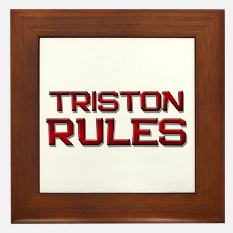 triston rules Framed Tile