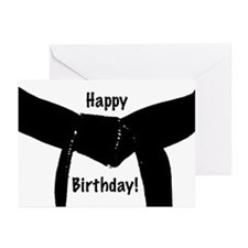 Black Belt Happy Birthday Cards 20PK