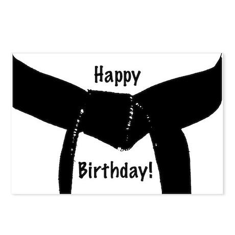 Martial Arts Black Belt Birthday Postcards 8pk