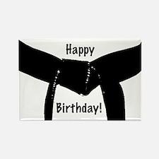 Black Belt Happy Birthday Rectangle Magnet