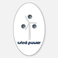 Wind Power Oval Decal