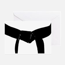 Martial Arts Black Belt Greeting Card