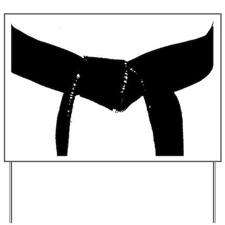 Martial Arts Black Belt Yard Sign