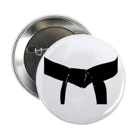 "Martial Arts Black Belt 2.25"" Button"
