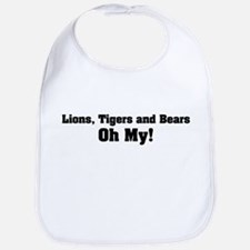 Lions Tigers and Bears Oh My Bib