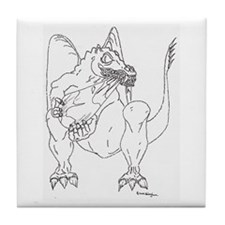Earth eating Dragon Tile Coaster