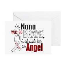 Angel 1 NANA Lung Cancer Greeting Card