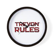 trevon rules Wall Clock