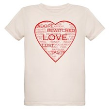 Red Heart Words T-Shirt
