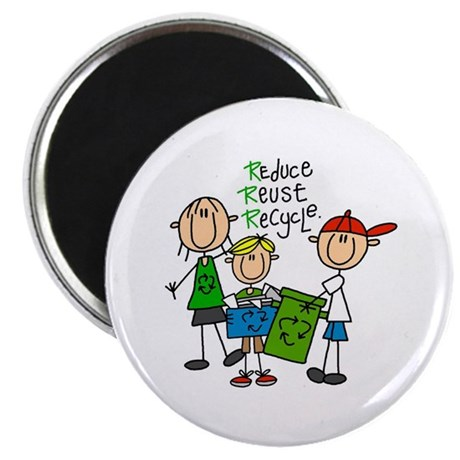 """Reduce, Reuse, Recycle 2.25"""" Magnet (100 pack)"""