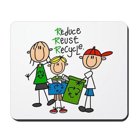 Reduce, Reuse, Recycle Mousepad