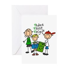 Reduce, Reuse, Recycle Greeting Card