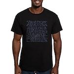 Tarot Key 9 - The Hermit Men's Fitted T-Shirt (dar