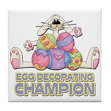 Egg Decorating Champion Tile Coaster