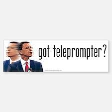 Got Teleprompter? anti Obama bumper sticker