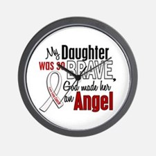 Angel 1 DAUGHTER Lung Cancer Wall Clock