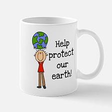 Boy Protect Our Earth Mug