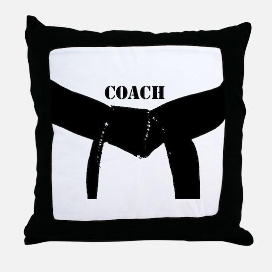 Martial Arts Coach Throw Pillow