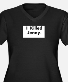 I Killed Jenny Gear! Women's Plus Size V-Neck Dark