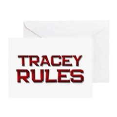 tracey rules Greeting Card