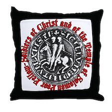 Knights Templar Seal Throw Pillow
