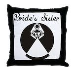 Bride's Sister Throw Pillow
