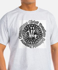 Knights Templar Seal (Pewter) T-Shirt