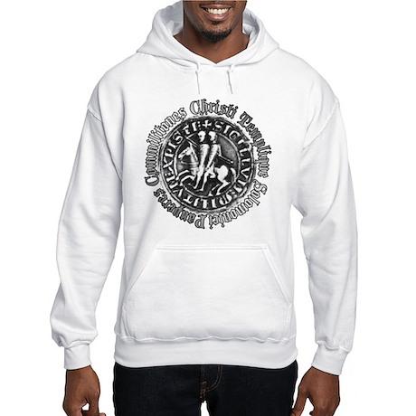 Knights Templar Seal (Pewter) Hooded Sweatshirt