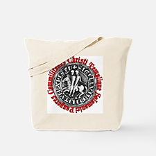 Knights Templar Seal (Latin) Tote Bag