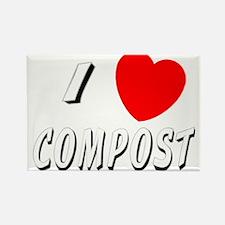 I love compost Rectangle Magnet