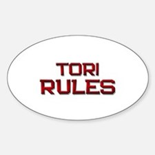 tori rules Oval Decal