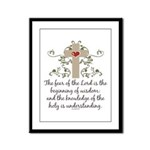 The Fear Of The Lord Framed Panel Print